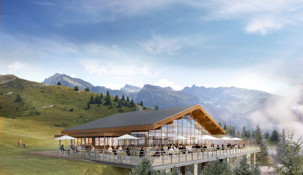 Plan 3D du futur club house du golf de La Rosière